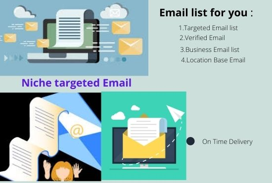 I will provide niche targeted Email list for your Business