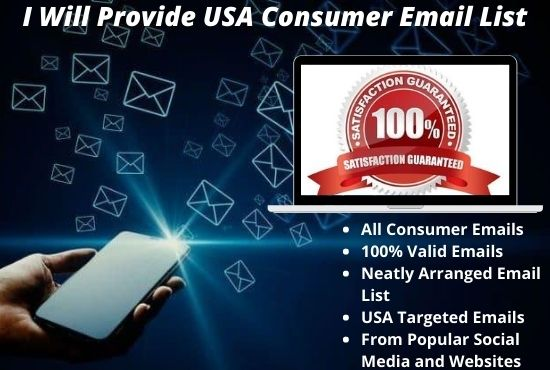 I Will Provide You With 5k USA Consumer Email List