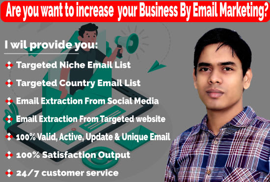 I will provide niche and country base email list