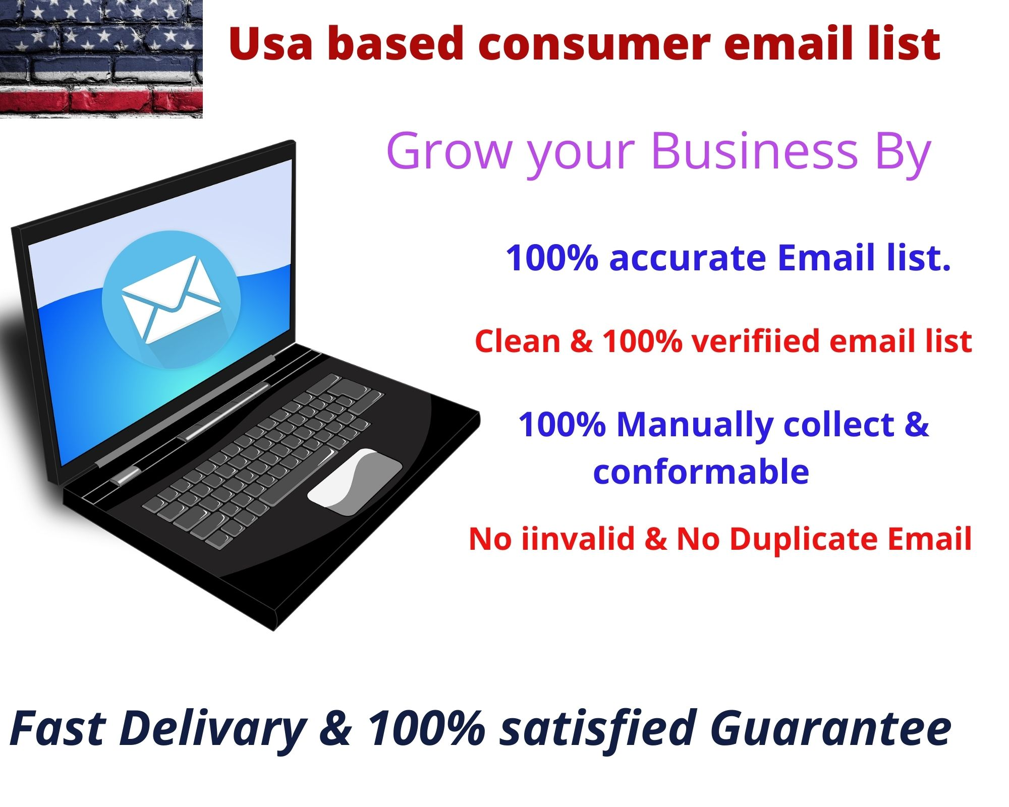 I will provide 5000 USA consumer email list in 24 hours