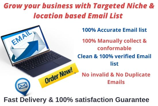 Grow your business by 5k Bulk Email list with low cost