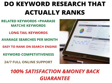 Do Keyword research that actually rank on search engine