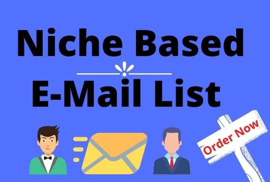 Targeted Niche Based Valid Email list for Marketing