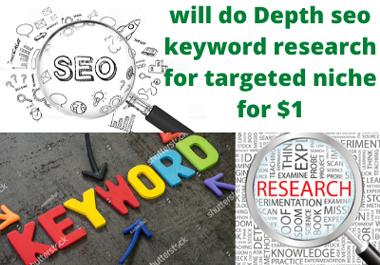 I will do Depth seo keyword research