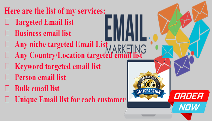 I will do niche base email marketing for your business