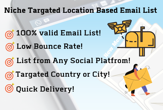 I will provide 5000 keyword and location based email list