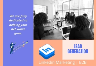 Linkedin Lead Generation,  100 b2b leads for targeted industry