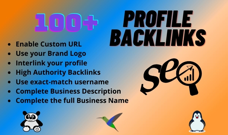 100+ Profile Backlink with High DA and PR for Google top Ranking