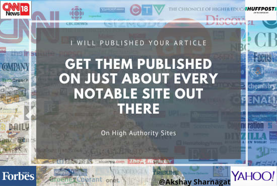 I will published guest post on high da sites