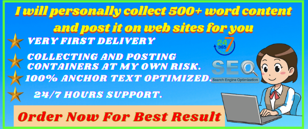 Write and Publish 10 Guest Posts 10 different websites With High DA/PA All category