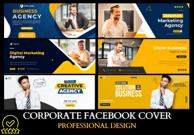 I will do Corporate Facebook Cover high quality premium design