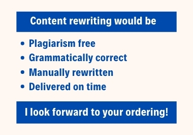 I will Manually rewrite any content of your choice
