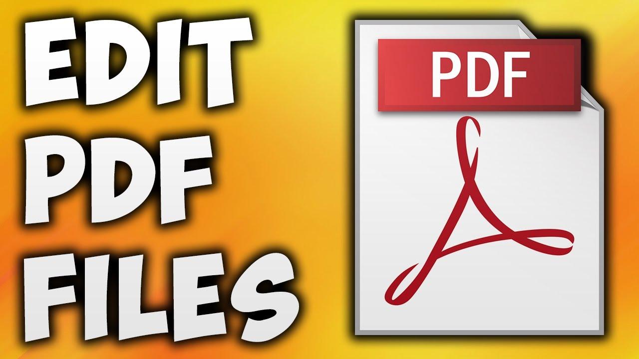 i will Edit Pdf file & Any file Edit