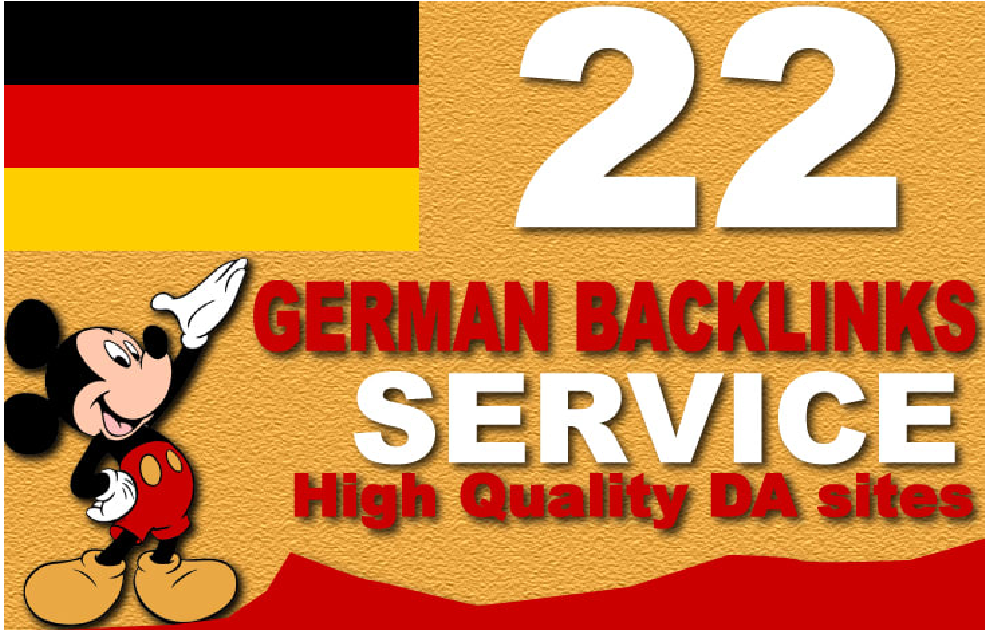 I will do german SEO backlinks from high authority german sites