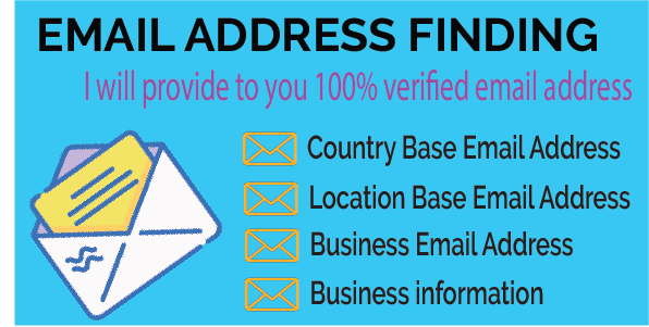 I will Provide verified Email Address list in Country/Location Base
