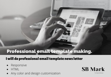 I will design a professional HTML email template or newsletter