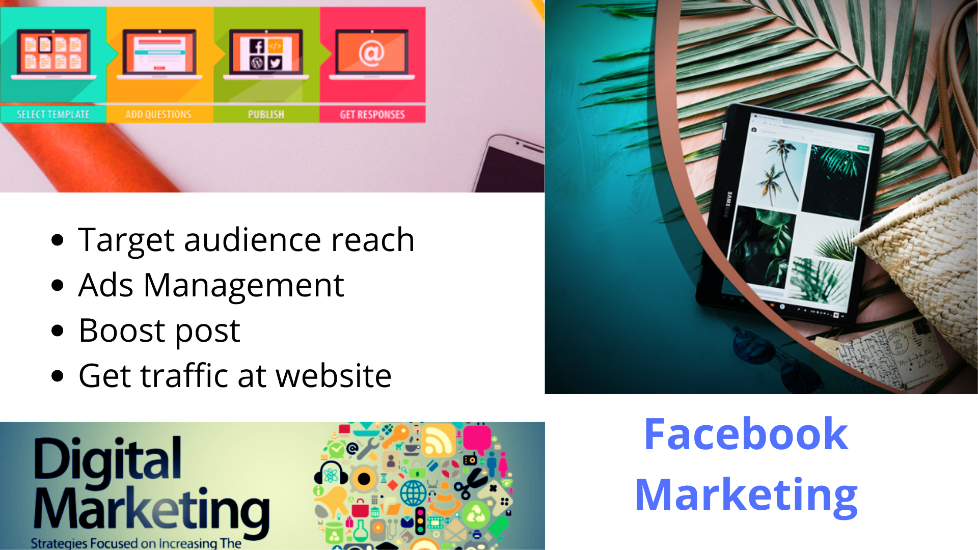 Digital Marketing to get target audience and boost post to get maximum clicks on a page