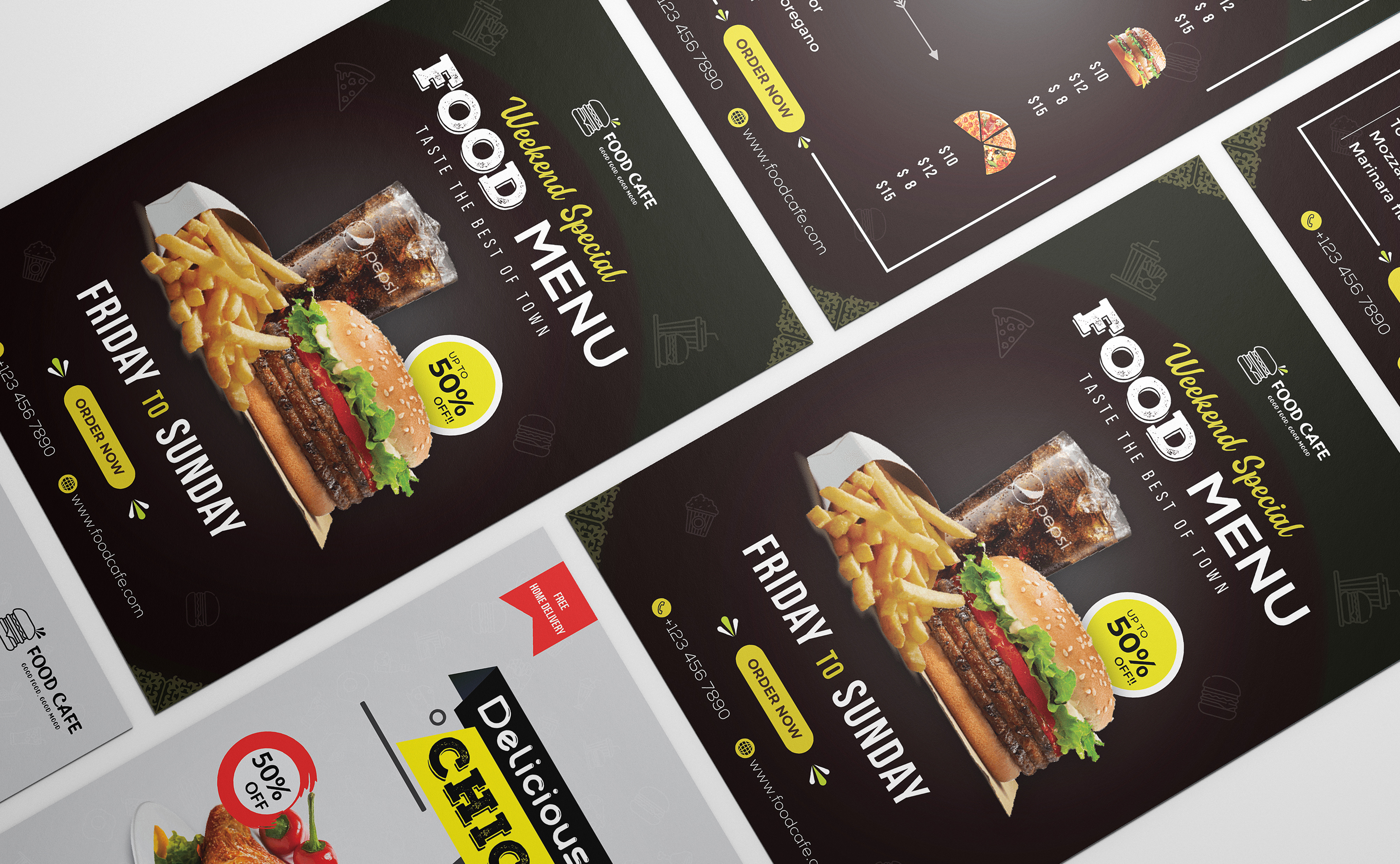 I will design 2 restaurant menu design within 24 hours