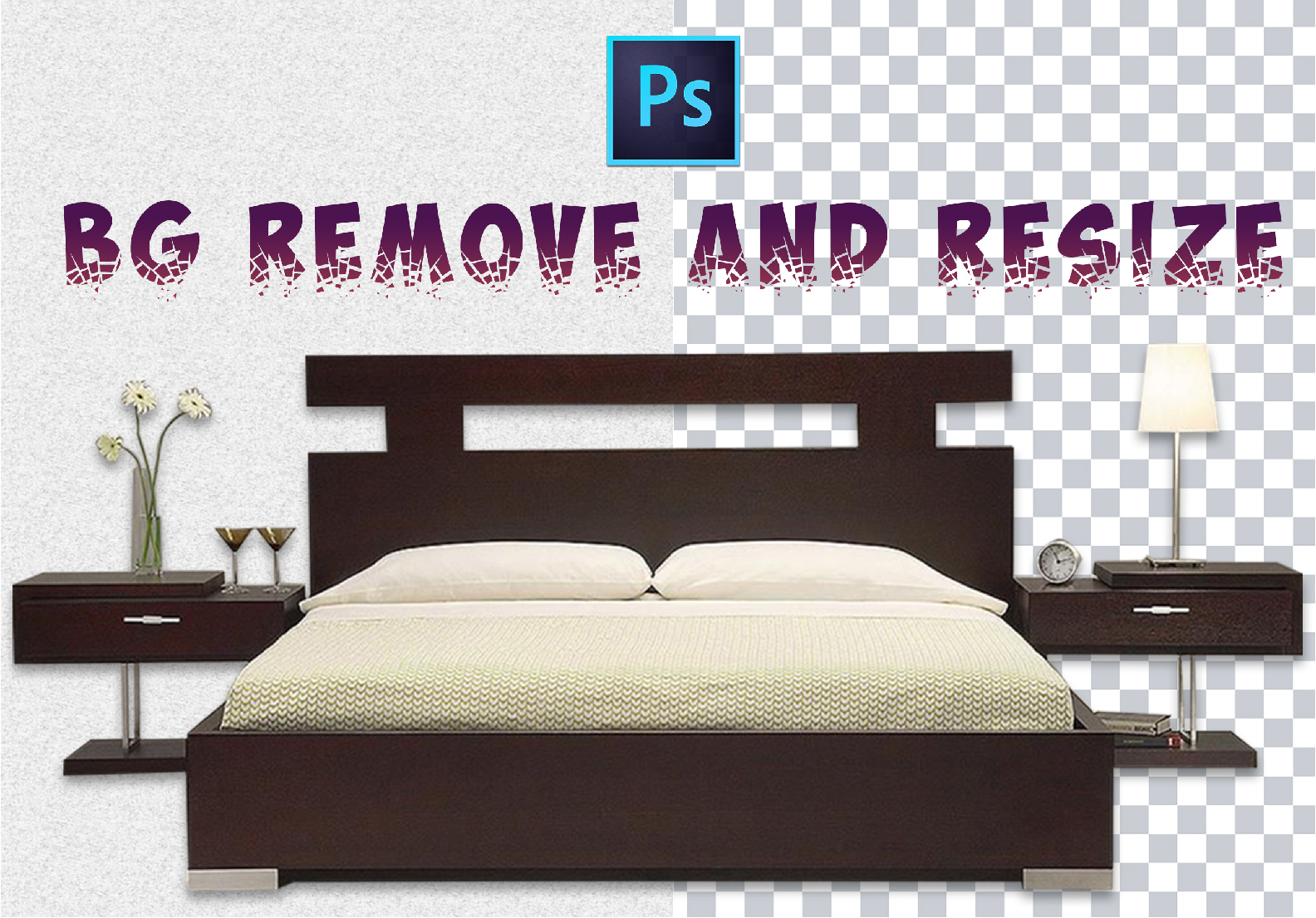 I will remove background or cut out 5 images