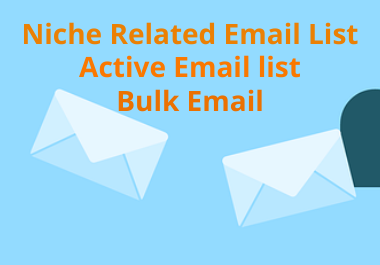 Niche Related Email LIst for Your Business
