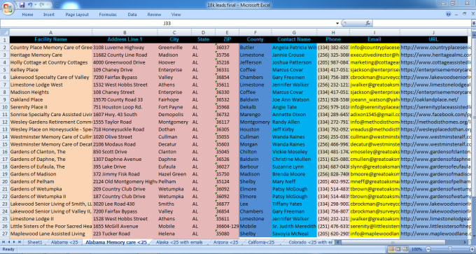 I will do data collection,  mining/scraping,  analysis,  files conversion,  email collection etc.