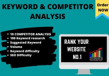 I will do competitor analysis and keyword research for your website