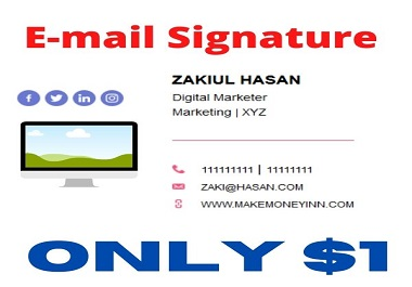 I will create clickable email singnature as your desire