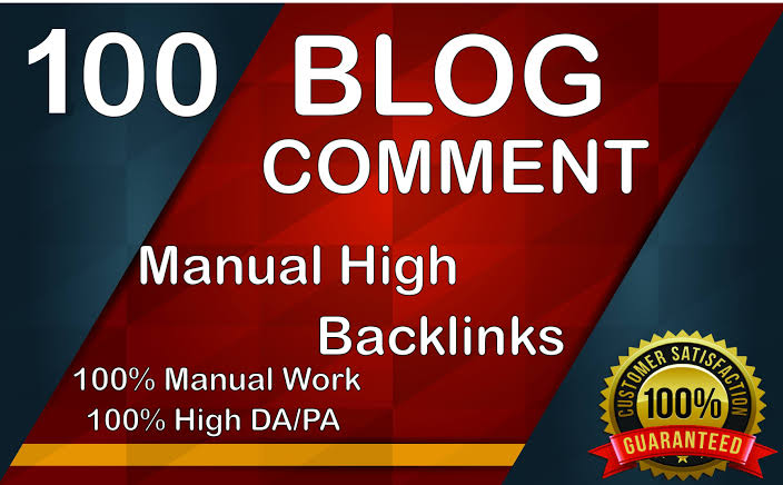 I will do create a 100 blog comments for help your site rank in google high DA PA