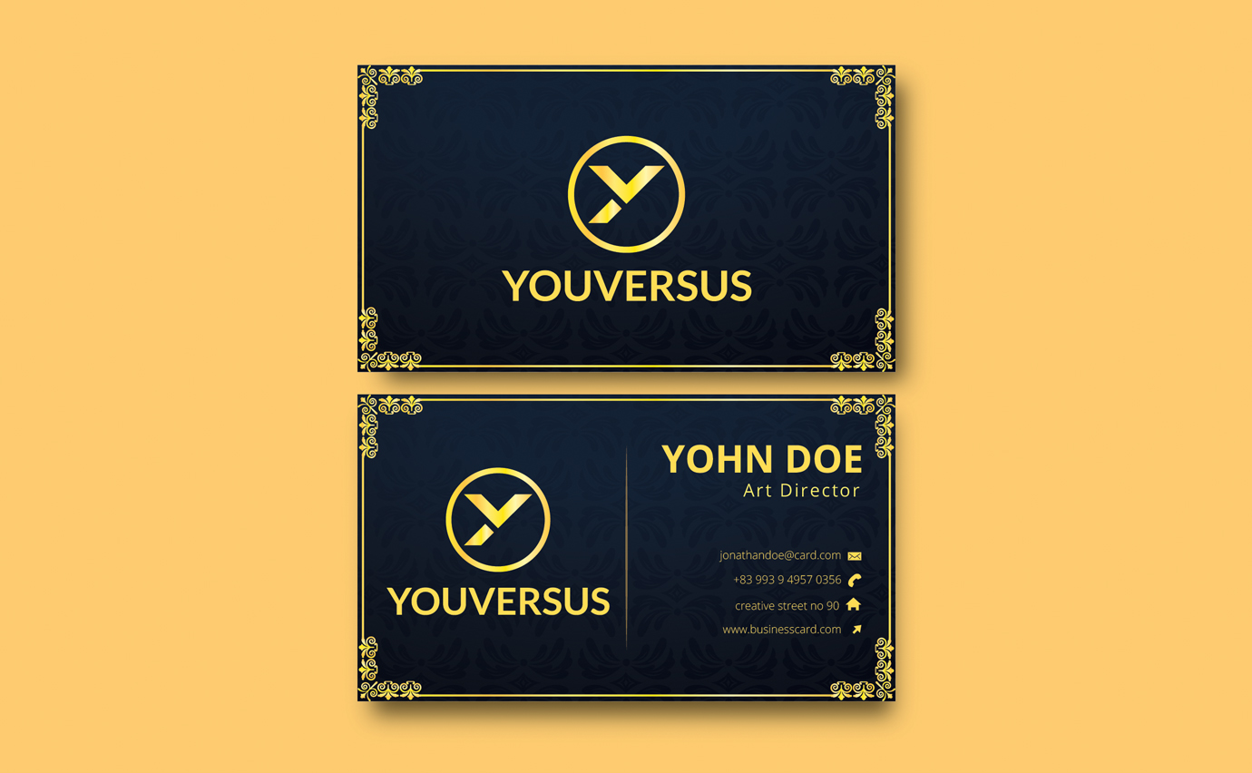 I will create unique business card design luxury business card design