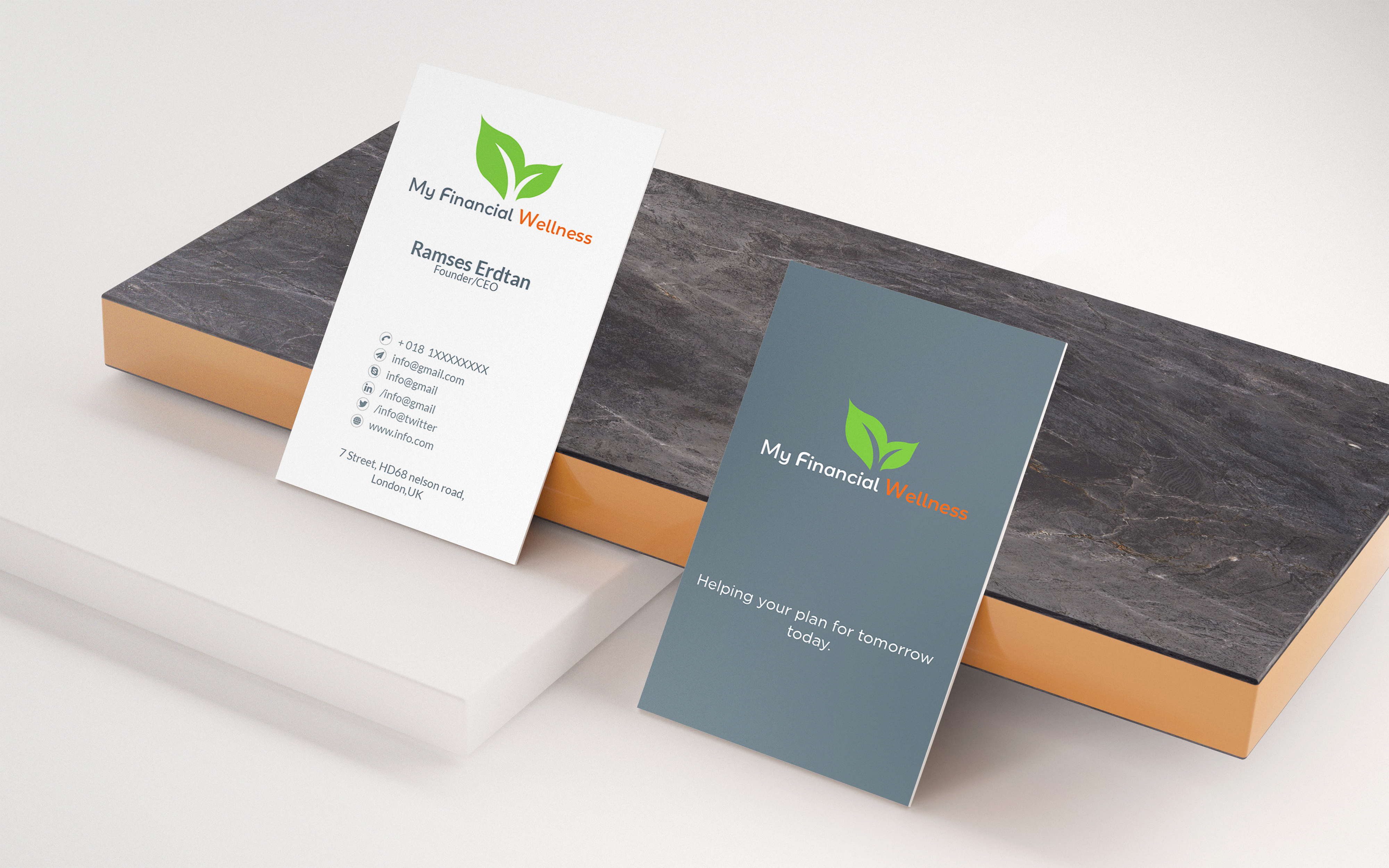I will do professional unique and modern business card design