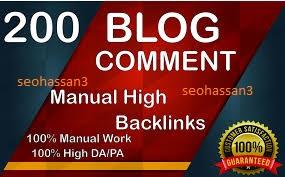 200 Blog Comments Seo Backlinks On High DA PA for 4