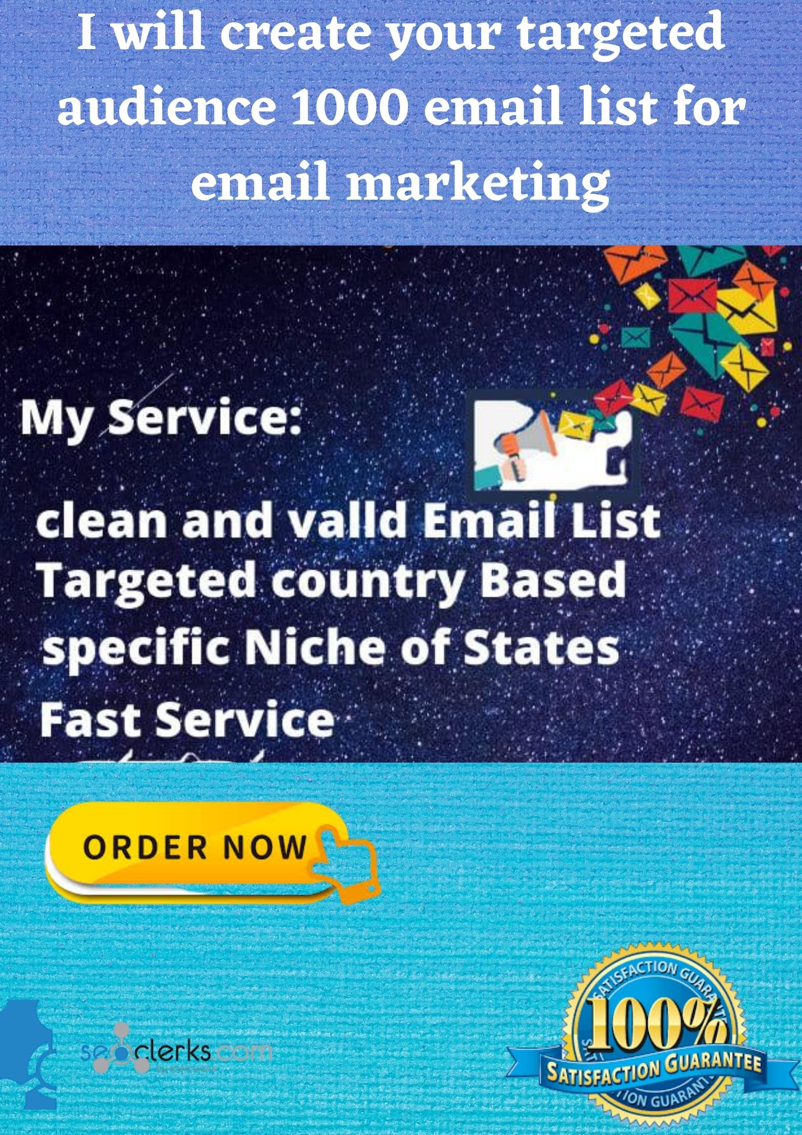 I will create your targeted niche 1000 email list for email marketing
