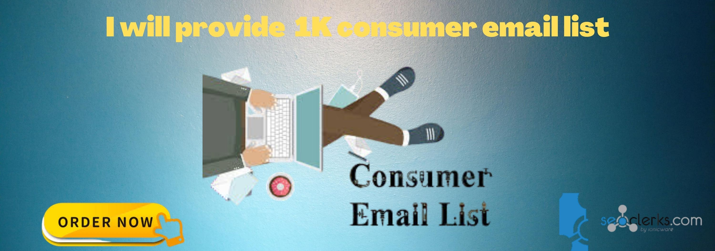I will provide 1K consumer email list