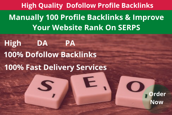 Manually Create 100 High Quality Do-follow Profile Back-links