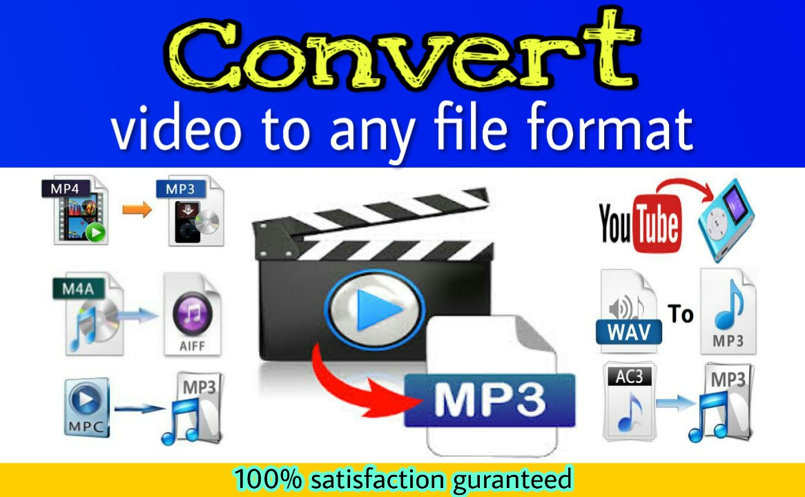 I will convert video to mp3 or other format