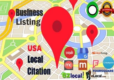 i will do 100 google map citation for local seo
