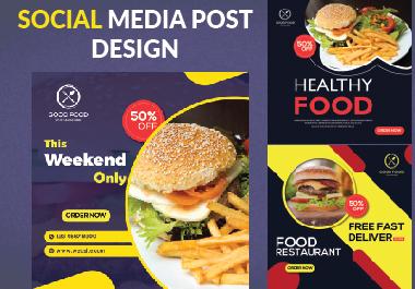 I will design food promo post for social media Facebook Instagram