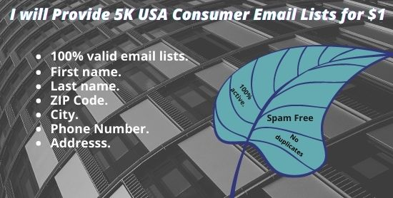 I Will Provide 5K USA Consumer Email Lists For You
