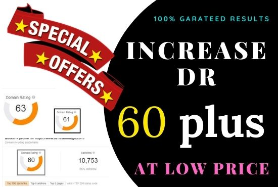 I will increase domain rating dr ahrefs 60 plus