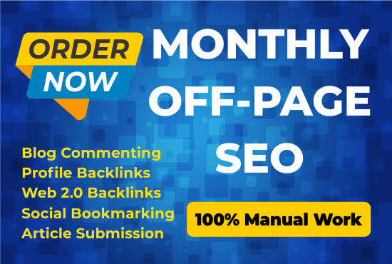 I will do monthly off page seo service quality back-links