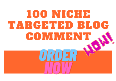 I will build 100 niche relevant blog commenting backlinks to rank website
