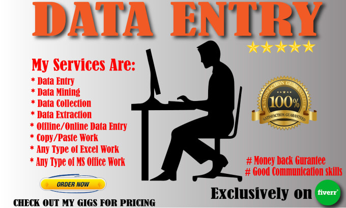 Data Entry,  Data Mining,  Copy Pasting,  Formatting,  Word,  Excel