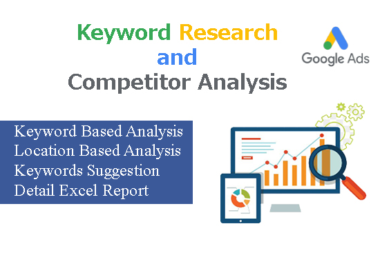 I will do 10 keyword research and competitor analysis