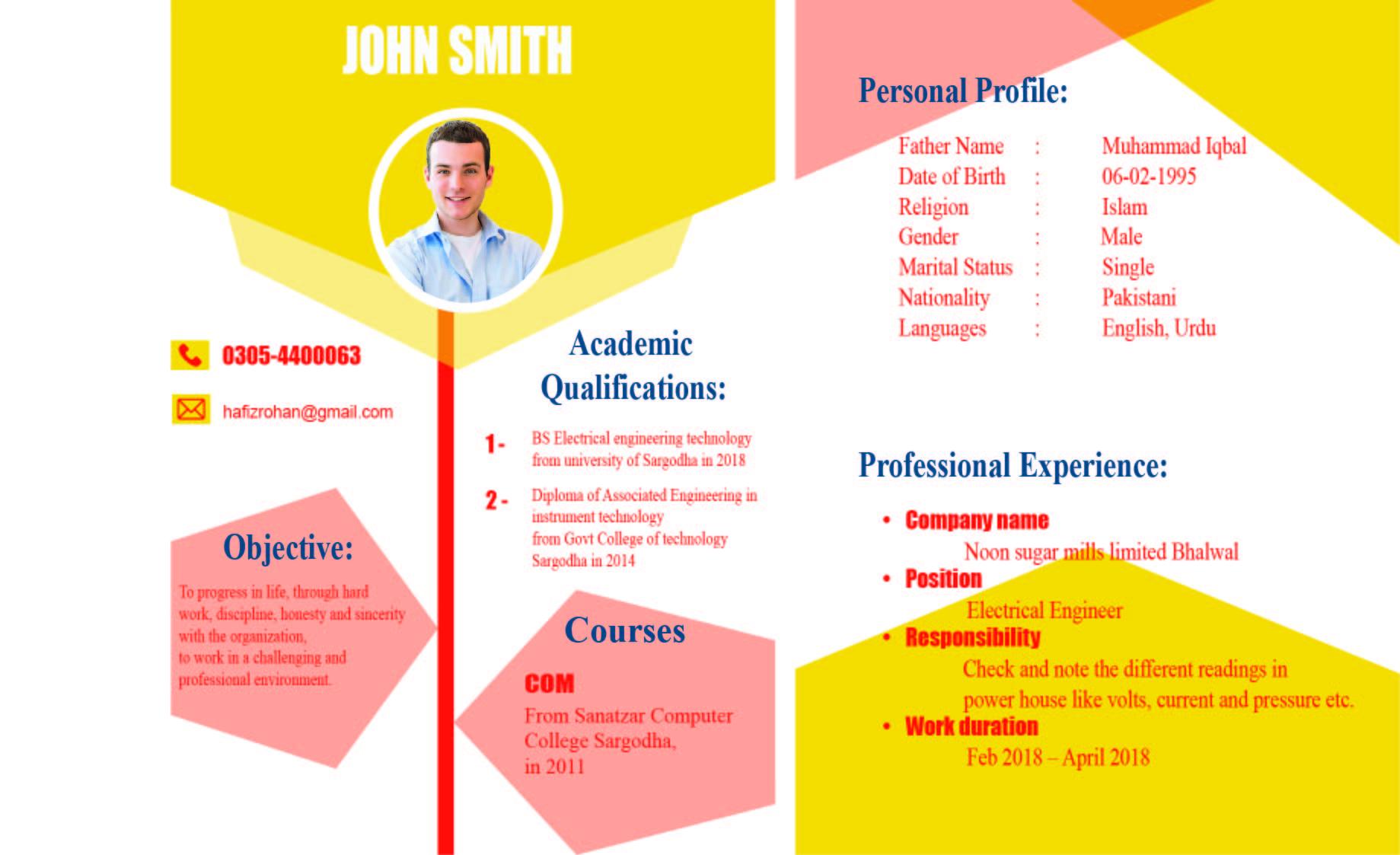 Professional CV & Resume design