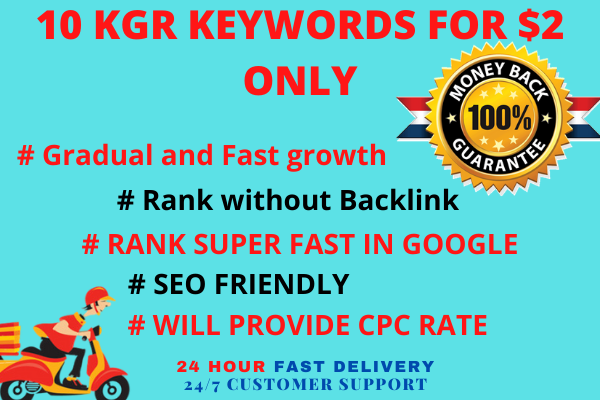 10 kgr keyword for fast google ranking 100 percent white hat SEO technique