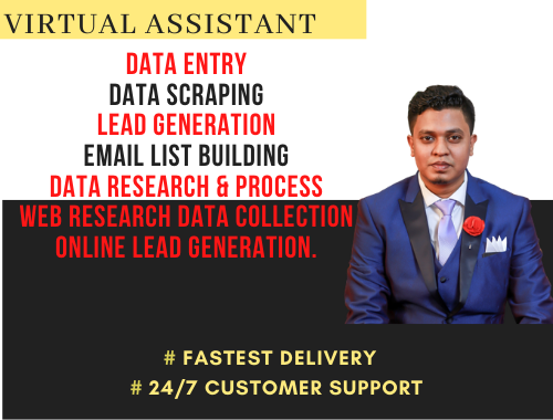 I will be your personal virtual assistant for admin support,  keyword research,  web research etc