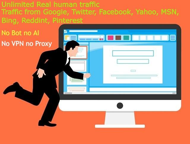 Unlimited US traffics 100 organic no Bots not VPN