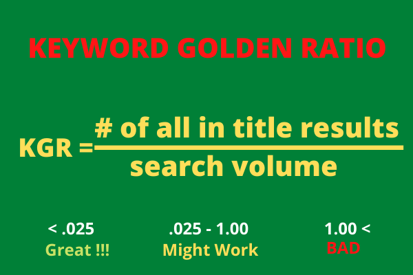 5 KGR SEO Keywords that ranks your website in Google 50 results without even backlink