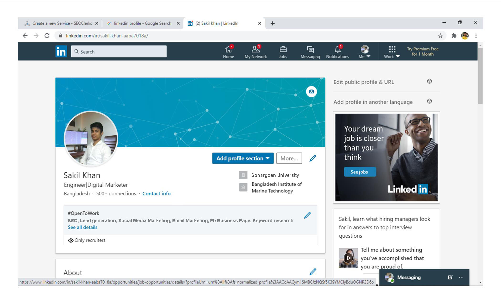 I will provide targeted b2b LinkedIn lead generation and email marketing