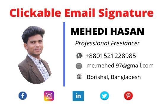 I will create professional clickable Email Signature for your email